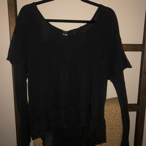 Free people we the free black t shirt thermal